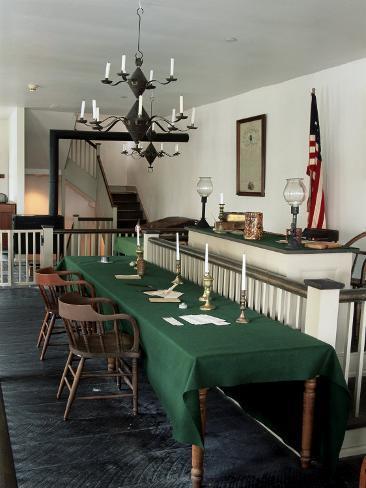 Ein Gerichtssaal in Springfield, Illinois. Es gab über 220 Prozesse gegen den Propheten Joseph Smith.