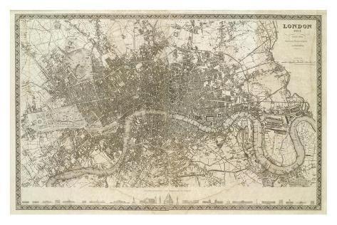 Londra, Inghilterrra,1845 circa Stampa artistica