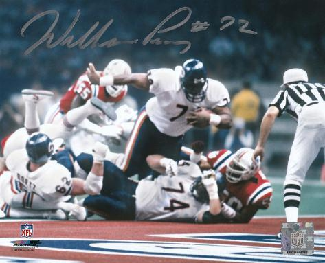 super bowl 20 william perry bears bowl xx touchdown autographed 29824