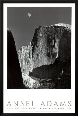 Ansel Adams Moon and Half Dome Yosemite National Park, 1960