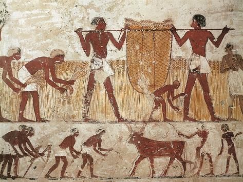 painting - egyptian mural