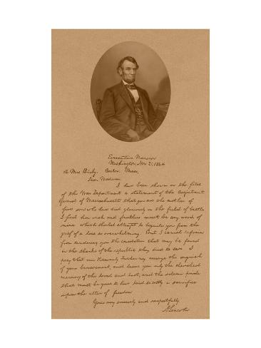 letter abraham lincoln mrs bixby vintage american history print of president abraham 13109