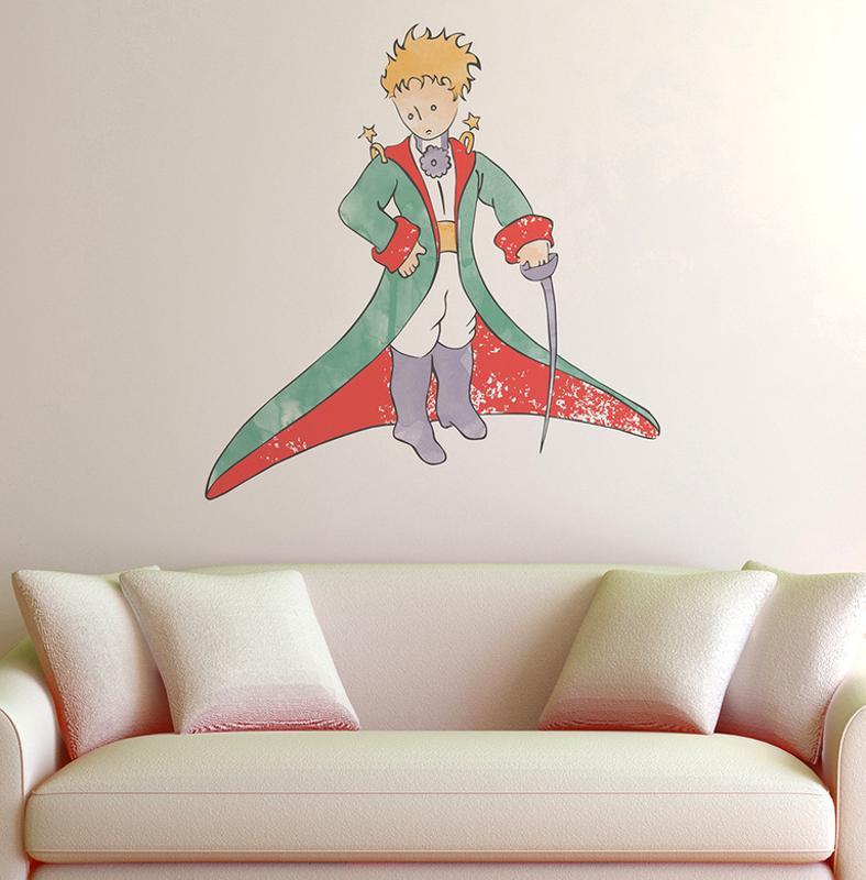 Le Petit Prince - Le Petit Prince Aquarelle Wall Decal 30 X 32Cm