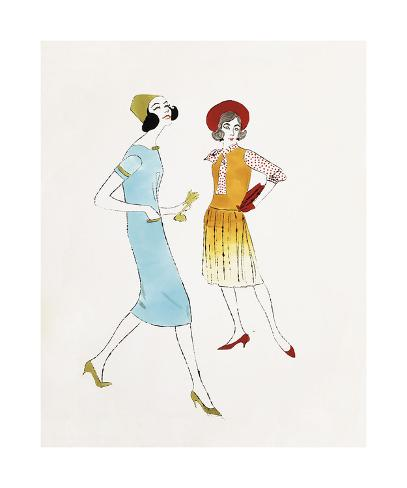 Two Female Fashion Figures C 1960 Giclee Print By Andy Warhol At