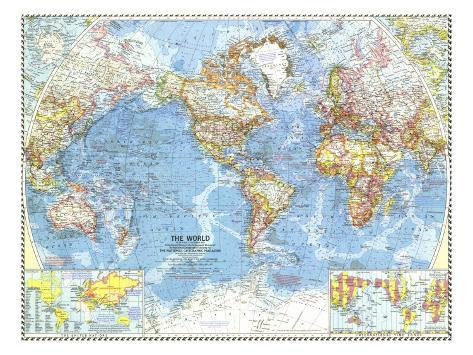 1960 World Map Prints by National Geographic Maps at AllPosters.com