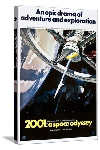 2001: A Space Odyssey, US poster, 1970 Toile tendue sur châssis