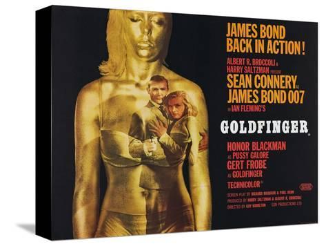Goldfinger, Sean Connery, Honor Blackman, 1964 Toile tendue sur châssis