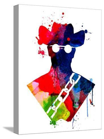 Django Watercolor Toile tendue sur châssis