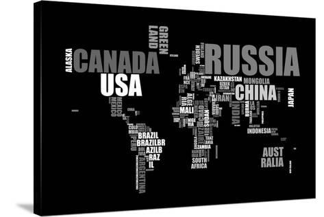 Préférence Planisphère - mappemonde : le monde en lettres Toile tendue sur  OB35