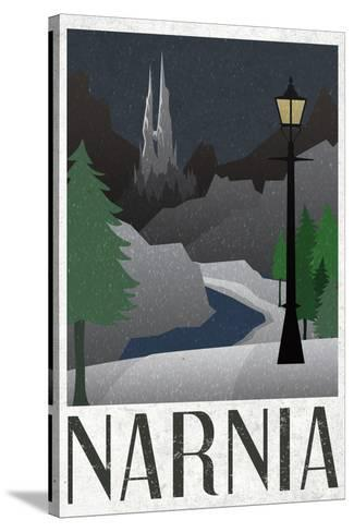 Narnia Retro Travel Poster Toile tendue sur châssis