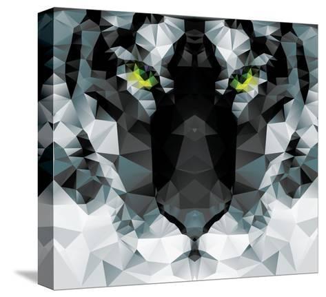 Geometric Polygon White Tiger Head, Triangle Pattern Design, Vector Illustration Tableau sur toile