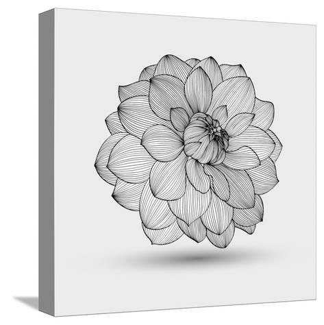 Abstract Floral Flower Dahlia Tableau sur toile