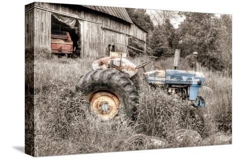Blue Tractor BW Trykk på strukket lerret