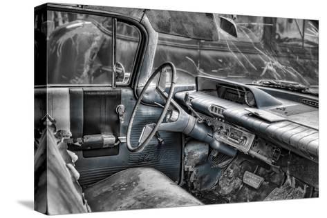 Buick Lesabre Interior BW Trykk på strukket lerret