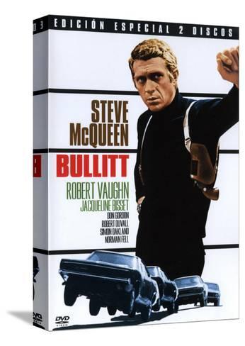 Bullitt, Spanish Movie Poster, 1968 Trykk på strukket lerret