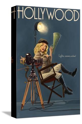 Hollywood, California - Directing Pinup Girl Trykk på strukket lerret