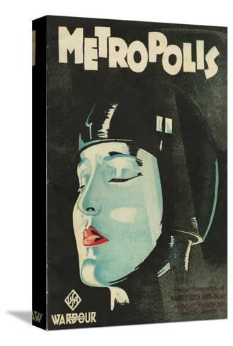 Metropolis, UK Movie Poster, 1926 Opspændt lærredstryk