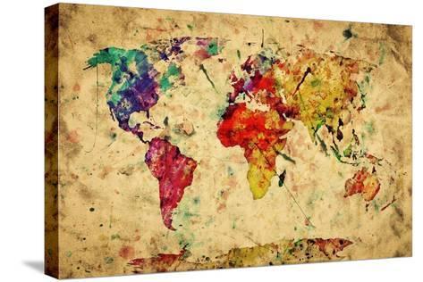 Topnotch Vintage, verdenskart Trykk på strukket lerret av Michal Bednarek RT-12