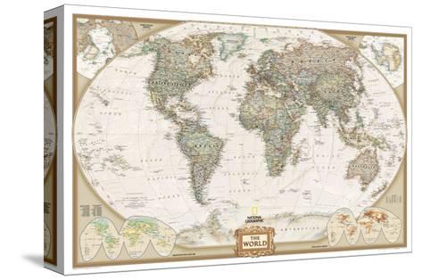 Nytt Politisk verdenskart, gammel stil Trykk på strukket lerret av IV-53