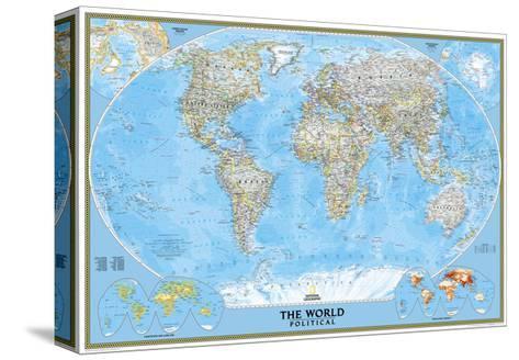 Forskjellige Politisk verdenskart Trykk på strukket lerret av National XN-68