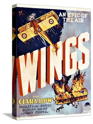 Wings Movie Poster Opspændt lærredstryk