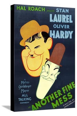 Another Fine Mess, Oliver Hardy, Stan Laurel, 1930 Bedruckte aufgespannte Leinwand