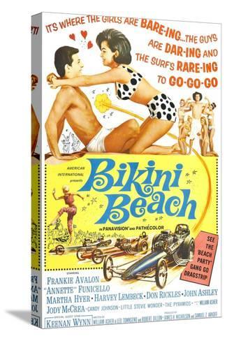 Bikini Beach, Frankie Avalon, Annette Funicello, 1964 Kunst op gespannen canvas