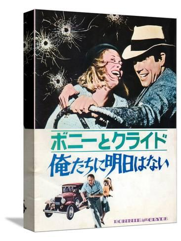 Bonnie and Clyde, Japanese Movie Poster, 1967 Kunst op gespannen canvas