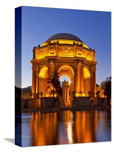 Palace of Fine Arts at Dusk in San Francisco, California, Usa Bedruckte aufgespannte Leinwand
