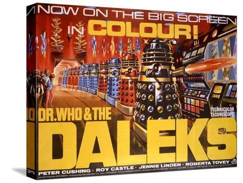 Dr Who and the Daleks Bedruckte aufgespannte Leinwand