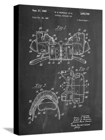 Football Shoulder Pads Patent Bedruckte aufgespannte Leinwand