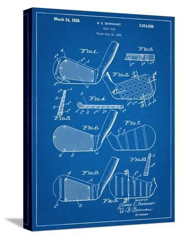 Golf Club, Club Head Patent Bedruckte aufgespannte Leinwand