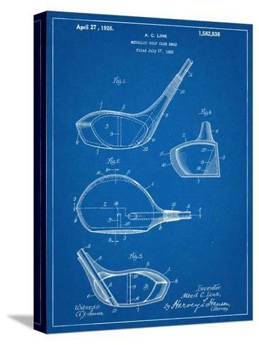 Golf Club Driver Patent Bedruckte aufgespannte Leinwand