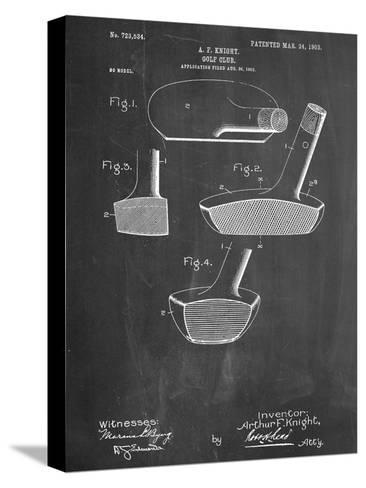 Golf Club Putter Patent Bedruckte aufgespannte Leinwand