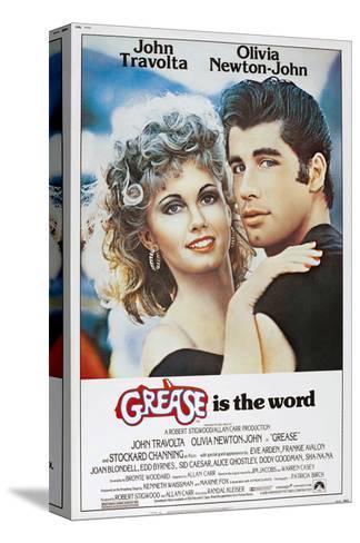 Grease, Olivia Newton-John, John Travolta, 1978. © Paramount Pictures/Courtesy Everett Collection Bedruckte aufgespannte Leinwand