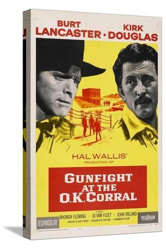 Gunfight At the O. K. Corral, 1957, Directed by John Sturges Bedruckte aufgespannte Leinwand