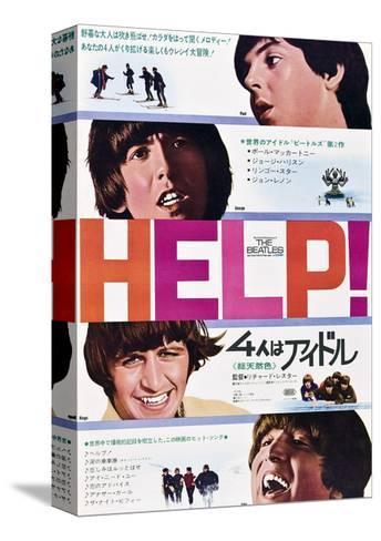 Help!, The Beatles, Japanese Poster Art, 1965 Bedruckte aufgespannte Leinwand