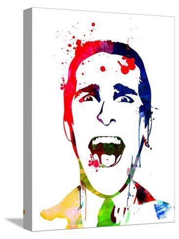 American Psycho Watercolor Kunst op gespannen canvas