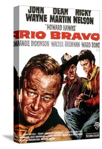 Rio Bravo, John Wayne, Dean Martin, Ricky Nelson, 1959 Bedruckte aufgespannte Leinwand