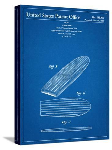 Surf Board Patent Bedruckte aufgespannte Leinwand