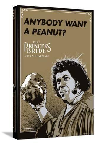 The Princess Bride - Anybody Want A Peanut? (Fezzik) Kunst op gespannen canvas