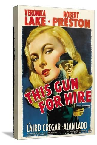 This Gun for Hire, Veronica Lake, Alan Ladd, 1942 Bedruckte aufgespannte Leinwand