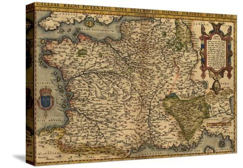 Map France 945.1570 Map Of France From Abraham Ortelius Theatrvm Orbis Terrarvm