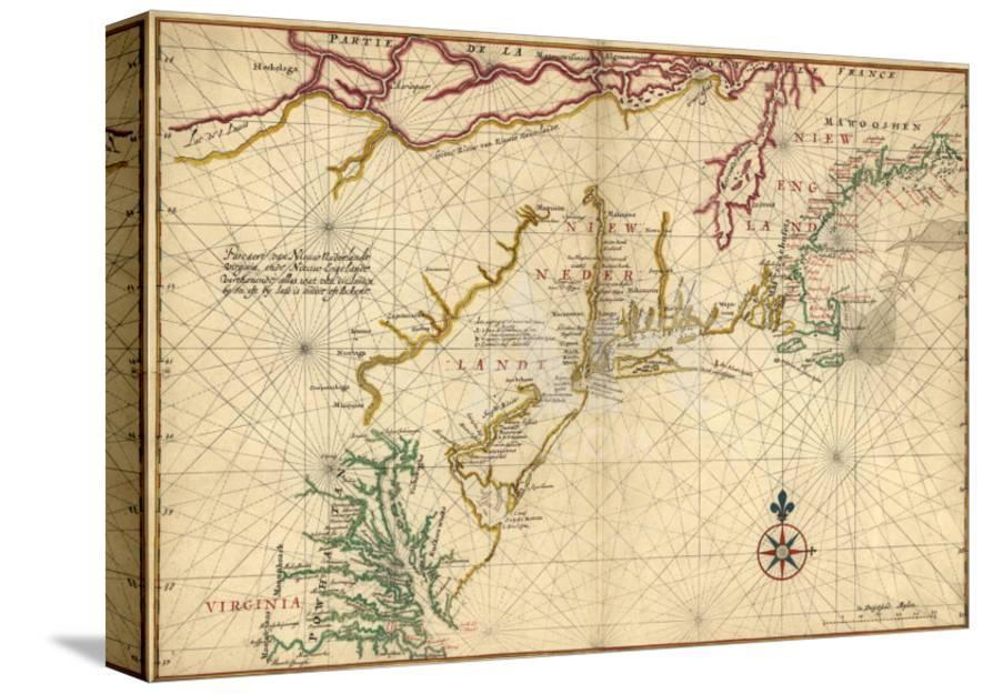1639 Maps of British Colonies in North America, with Locations of Plymouth  and Jamestown