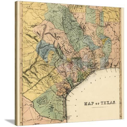 State Map Of Tx.1840s Texas State Map Texas United States Giclee Print At