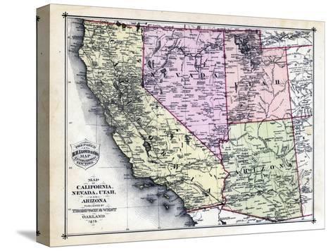 Map Of Nevada Arizona.1879 California Nevada Utah And Arizona States Map California
