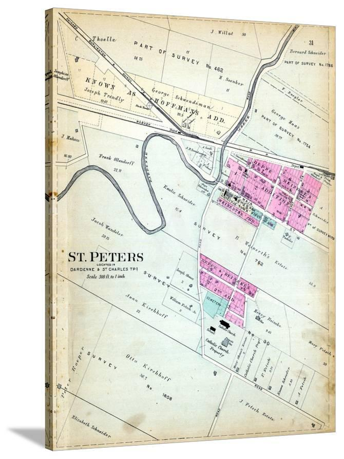 St Peters Missouri Map.1905 St Peters Missouri United States Giclee Print At Allposters Com