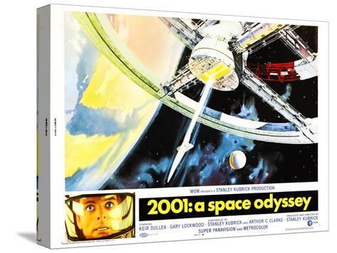 2001: A Space Odyssey, US lobbycard, Keir Dullea, 1968 Impressão em tela esticada