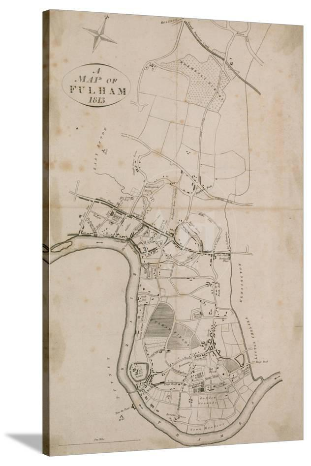 A Map Of Fulham London 1813 Giclee Print At Allposters Com
