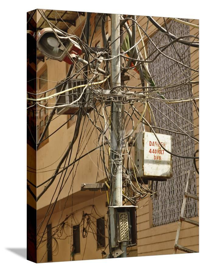 Admirable Unsafe Electrical Wiring On A Street In Delhi India Photographic Wiring Digital Resources Remcakbiperorg